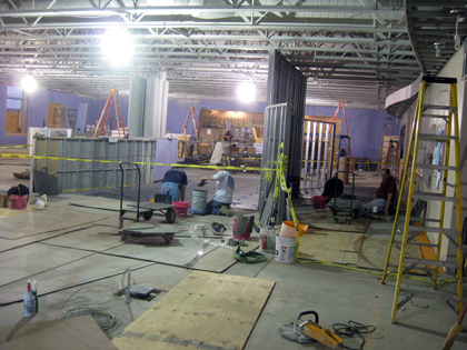 Englar Dining Hall being renovated. Photo courtsey of McDaniel College Website