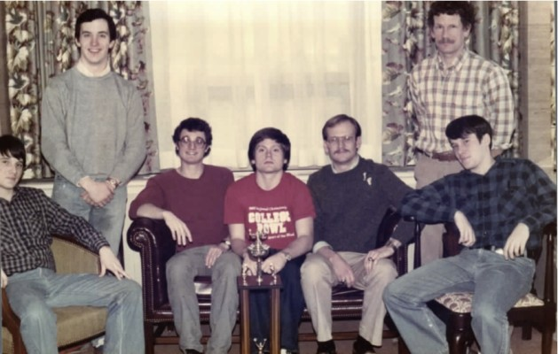 Dr. Casey's College Bowl team at Furman (83) (He's the seated guy with the mustache). Photo provided by Dr. Casey.