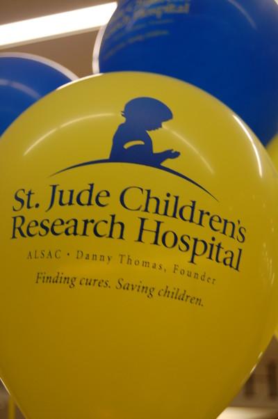 A St. Jude balloon. Photo by Dara Dinisio.