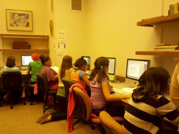 Boys and Girls Club Members in the Writing Center