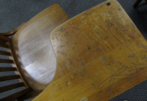 Found on a desk on the second floor of Lewis Recitation Hall.