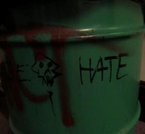 Found on a trash can on the third floor of Elderdice Hall.
