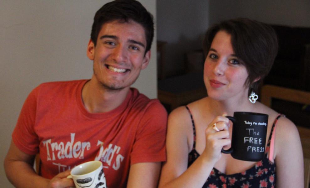 McDaniel Free Press Co-Editors-in-Chief Daniel Valentin-Morales and Sarah Hull