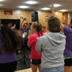 "Students sang along to the peer mentors' rendition of ""Wannabe"" by the Spice Girls."