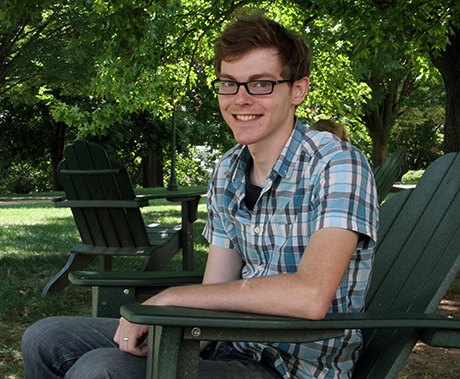 Daniel Schafer relaxes on campus in 2014. (McDaniel Free Press staff)