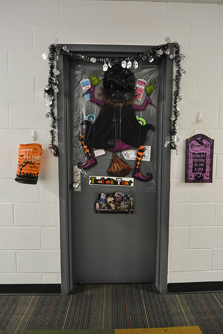 Students in Whiteford Hall and other dorms have been decorating for Halloween.