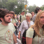 Lizzie DeRycke makes derpy faces moments before the March.