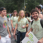 McDaniel students show their enthusiasm for being part of this march!