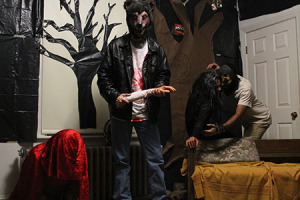 One of the rooms in the ACC's haunted house on Nov. 1.