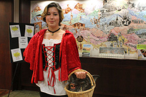 Darby Bortz dressed as Little Red Riding Hood.