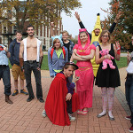 McDaniel's Happiness Club handed out Halloween candy in Red Square.