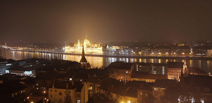 The Hungarian Parliament Building in Budapest, Hungary. Photo by George Pahalishvili for McDaniel College.