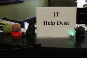 The IT department decorated for Halloween.