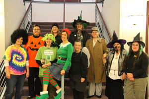 The library staff went all out for Halloween.