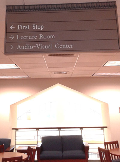 The First Stop Office is located on the second floor of Hoover Library, where the Center for Faculty Excellence used to be.