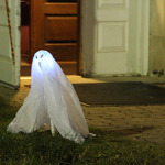 A ghost haunting the doorway to McDaniel Lounge