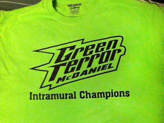 Green Terror Intramurals T-shirt