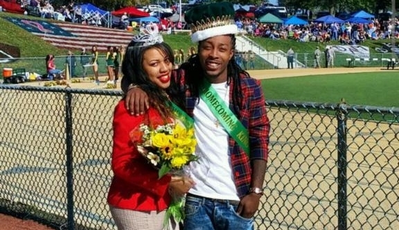 Maurice Paul, pictured here with senior Jelea McNeil as 2014 homecoming king and queen, will show his Godly Apparel clothing line in Philadelphia on March 28.