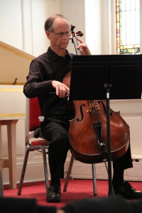 """Cellist Tim Anderson at the """"Go for Baroque concert on Sunday, March 8"""