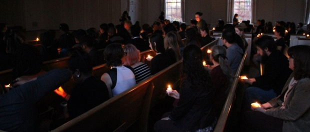 Members of the McDaniel community came together on April 29 to hold a candlelight vigil in honor of Baltimore.