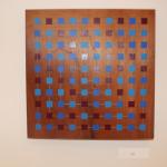 """Non-repetitive,"" Amanda Owens. Acrylic on wood panel."