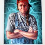 """""""Self Portrait,"""" Lily Galzerano. Oil on Canvas."""