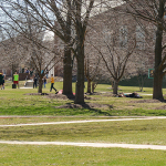 Earlier this week, the Quad was a place where many students laid out in the sun, played games, socialized, and simply relaxed.
