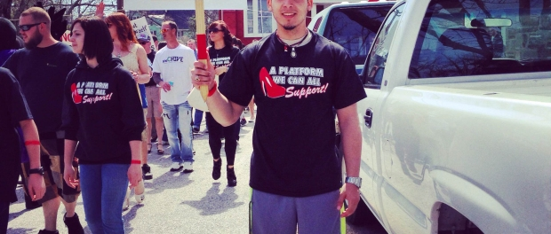 """Mirko Fernandez at the """"Walk on Her Shoes"""" event."""