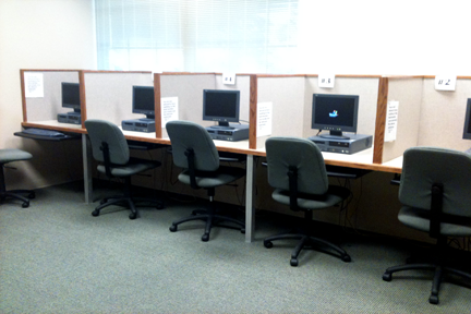 Computer stations in McDaniel's SASS office (Image via McDaniel IT)