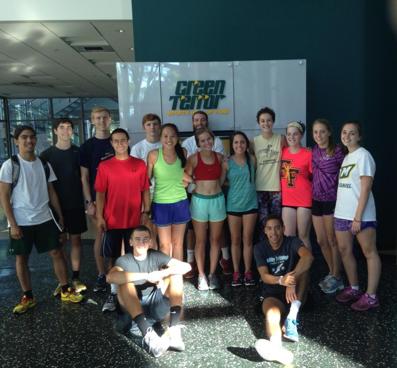 The 2015 cross country team after one of their preseason practices.