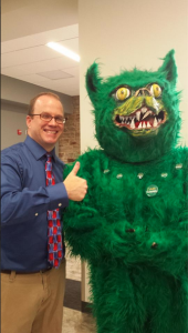 Brian Stephenson hangs out with the Green Terror at the latest SAC mug event.