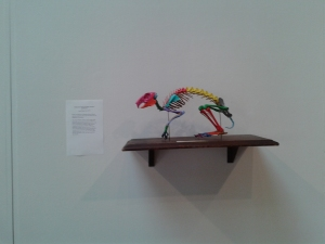 One of the pieces of art exhibited in SKEPSIS.