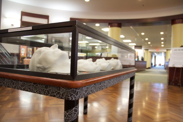 Death Mask Exhibition in Hoover Library. Photo by Jimmy Calderon