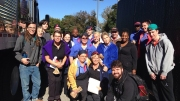Campus Sodexo workers on the day of their unionization vote. Photo courtesy of Caroline Unger.
