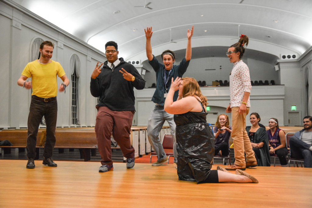 McDaniel's improv comedy group, Danger Sauce, put on a show on Oct. 30 and entertained a crowd the night before Halloween.