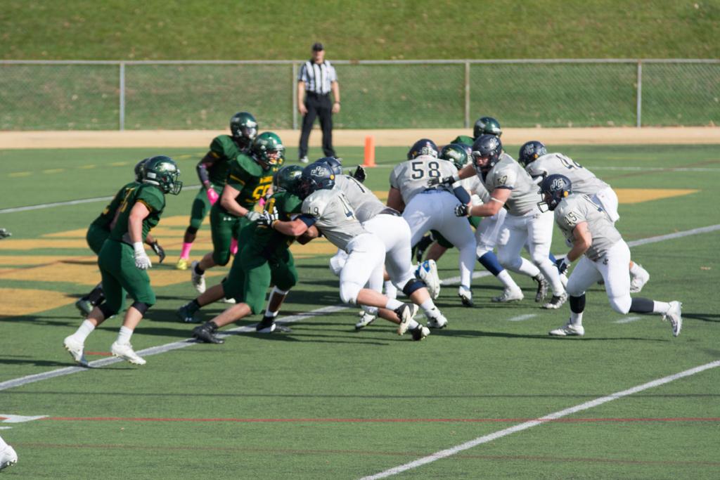 On Halloween, McDaniel's football team took on the Juniata Eagles.