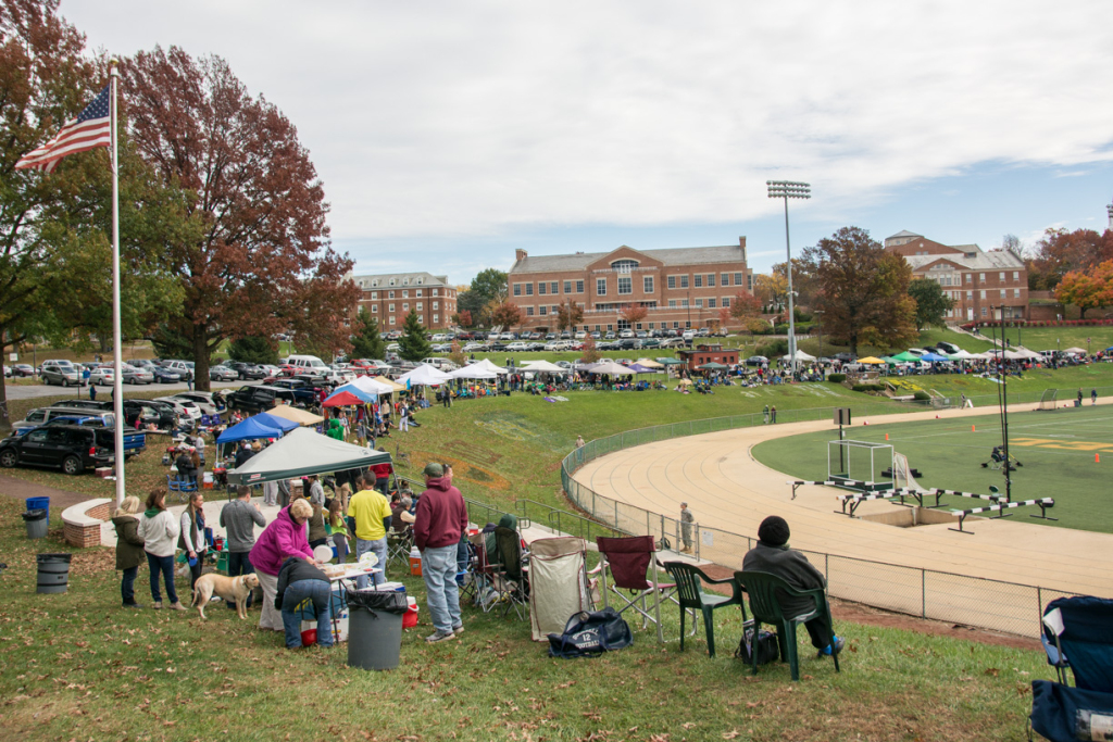 As usual, masses of people tailgated alongside McDaniel's football game.