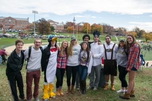 A variety of students attended the Halloween game. Some even showed up in costumes to celebrate the holiday.