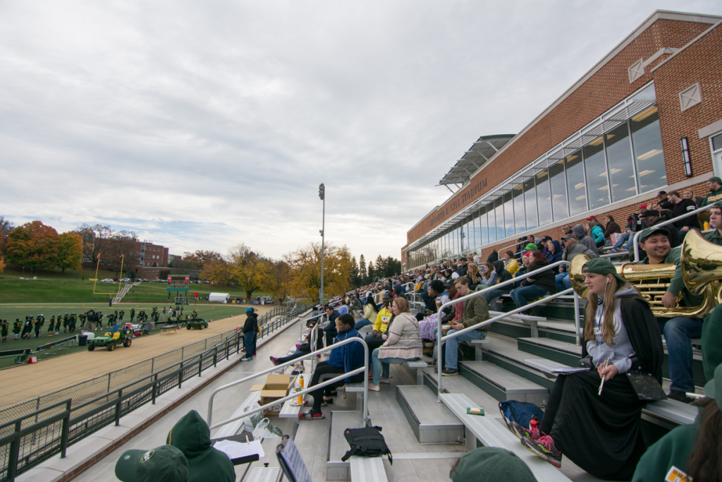 Crowds also filled McDaniel's bleachers at the Halloween game.