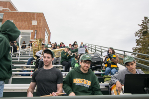 In addition to cheering crowds, McDaniel's pep band was present to support McDaniel.