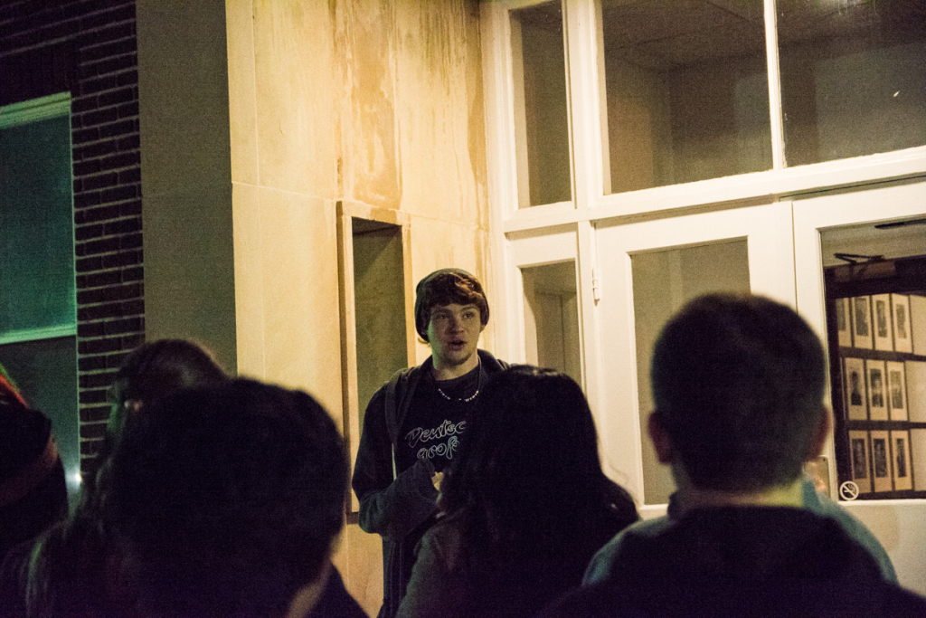 Once night fell, Alpha Psi Omega offered ghost tours.