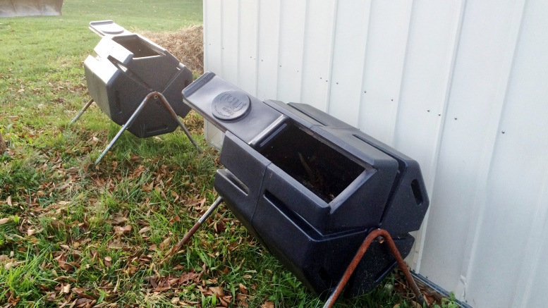 McDaniel's Green Life club maintains two compost bins by the garden on campus.