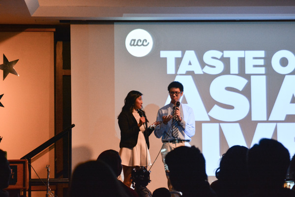 Hosts Phuc Truong and Kristel Aurelia kept the crowd entertained.