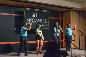 The ACC Girls performing their first dance routine.