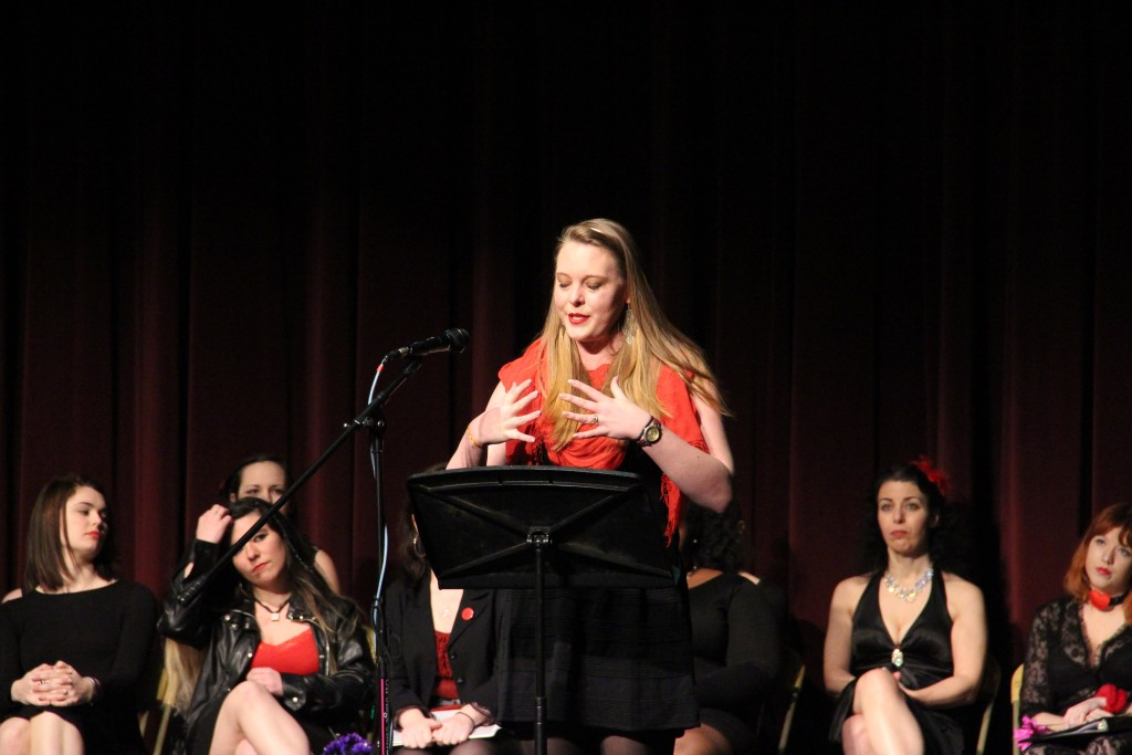 Leigh Bronell speaks of her close encounter with rape and how this has affected her life. Photo Credit by Jimmy Calderon