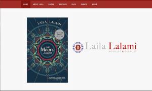Screenshot of Lalami's website. Photo courtesy of Lailalalami.com