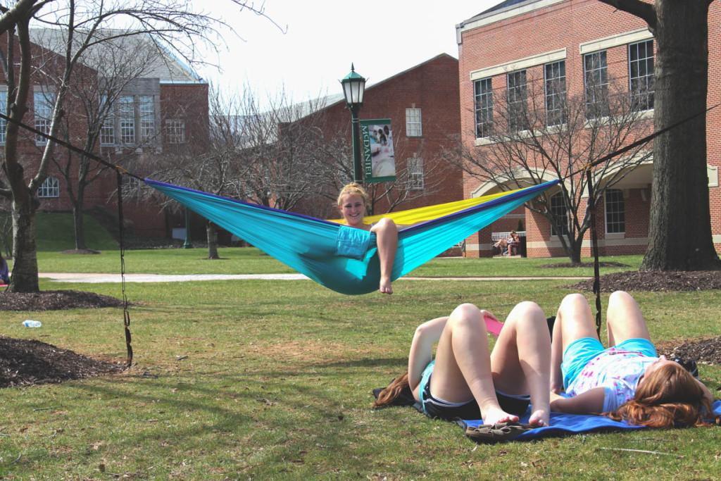 The change in weather has led to the retun of the McDaniel quad hammocks