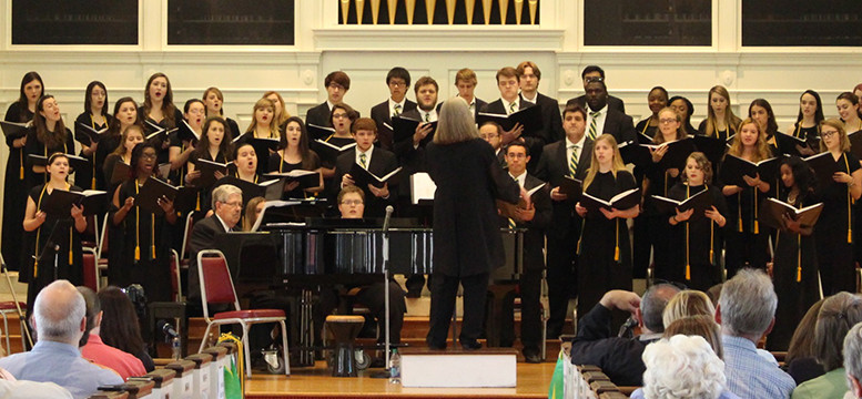 College Choir in concert. Photo by Emma Carter.
