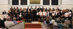 College choir and Gospel choir join together. Photo by Emma Carter.