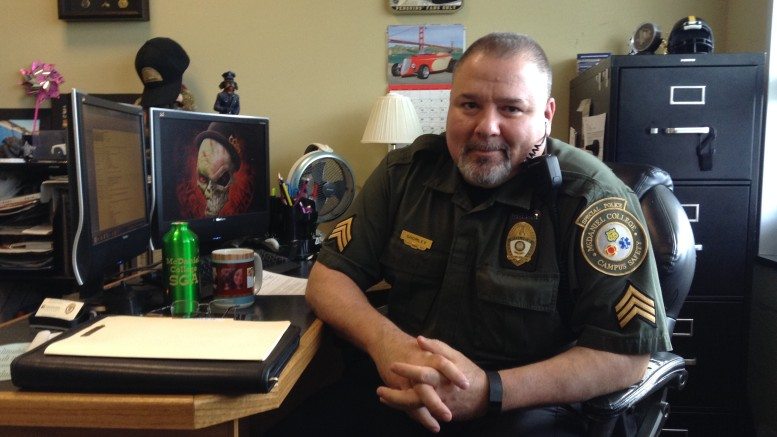 Sergeant Mike Gromley of the Department of Campus Safety. Photo by Stephanie Golub.